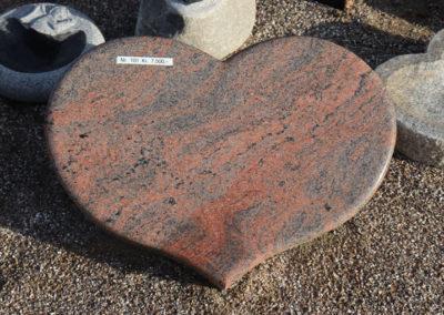 Himmerland Gravsten og Granit, Multicollar fuldpoleret hjerte (2)