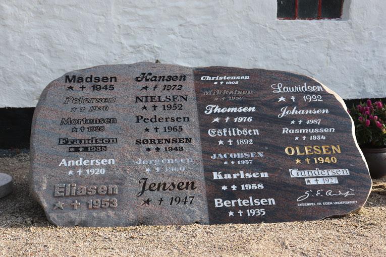 Himmerland Gravsten og Granit, skriftsten 3